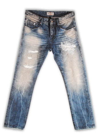 157-111M Opal Blue Jeans - Rivet De Cru Jeans - Premium Denim - Mens Fashion - Mens Clothing - Mens Jeans - Mens Denim - 1
