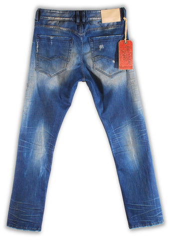 157-114M Bachelor Blue Jean - Rivet De Cru Jeans - Premium Denim - Mens Fashion - Mens Clothing - Mens Jeans - Mens Denim - 2