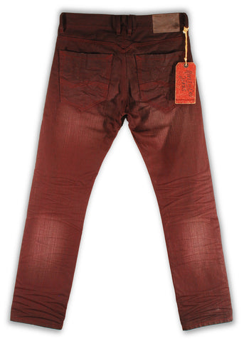 159-122M Cordovan Burgundy Jean - Rivet De Cru Jeans - Premium Denim - Mens Fashion - Mens Clothing - Mens Jeans - Mens Denim - 2