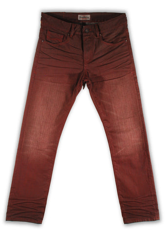 159-122M Cordovan Burgundy Jean - Rivet De Cru Jeans - Premium Denim - Mens Fashion - Mens Clothing - Mens Jeans - Mens Denim - 1