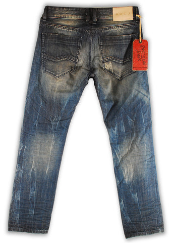 159-137M Ensign Blue Jeans - Rivet De Cru Jeans - Premium Denim - Mens Fashion - Mens Clothing - Mens Jeans - Mens Denim - 2