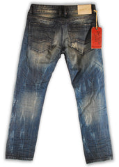 159-137M Ensign Blue Jeans - Rivet De Cru Jeans - Premium Denim