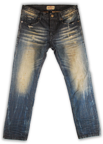 159-137M Ensign Blue Jeans - Rivet De Cru Jeans - Premium Denim - Mens Fashion - Mens Clothing - Mens Jeans - Mens Denim - 1