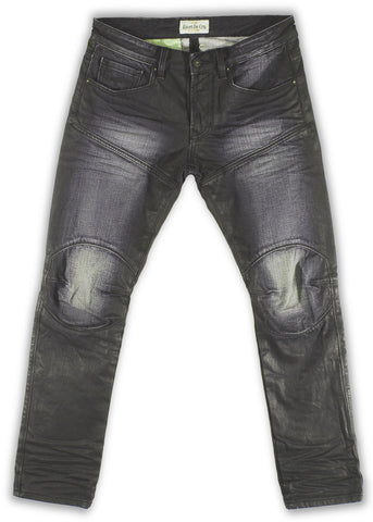 159-156T Eclipse Wash Moto Fit Jean - Rivet De Cru Jeans - Premium Denim - Mens Fashion - Mens Clothing - Mens Jeans - Mens Denim - 1