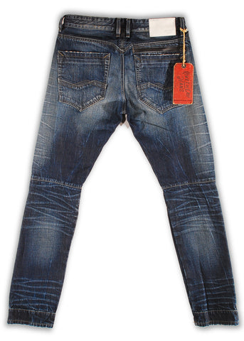 159-171T Skipper Wash Moto Fit Jean - Rivet De Cru Jeans - Premium Denim - Mens Fashion - Mens Clothing - Mens Jeans - Mens Denim - 2