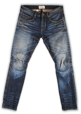 159-171T Skipper Wash Moto Fit Jean - Rivet De Cru Jeans - Premium Denim