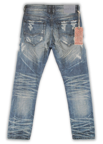 165-002S Dune Blue Wash Jeans - Rivet De Cru Jeans - Premium Denim - Mens Fashion - Mens Clothing - Mens Jeans - Mens Denim - 2
