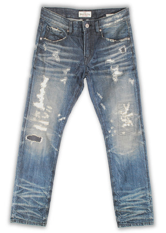 165-002S Dune Blue Wash Jeans - Rivet De Cru Jeans - Premium Denim - Mens Fashion - Mens Clothing - Mens Jeans - Mens Denim - 1