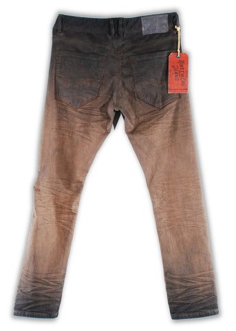 161-045M Tobacco Brown Wash Jeans - Rivet De Cru Jeans - Premium Denim - Mens Fashion - Mens Clothing - Mens Jeans - Mens Denim - 2