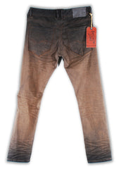 161-045M Tobacco Brown Jeans - Rivet De Cru Jeans - Premium Denim - Mens Fashion - Mens Clothing - Mens Jeans - Mens Denim - 2