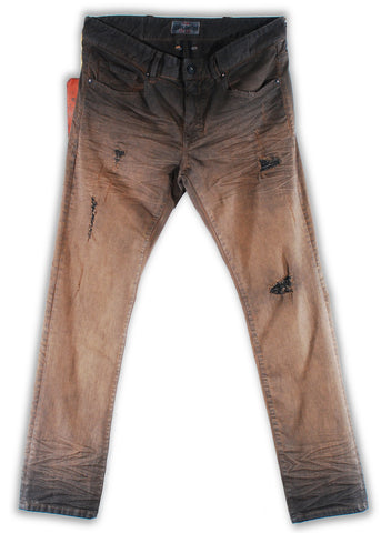 161-045S Tobacco Brown Jean - Rivet De Cru Jeans - Premium Denim