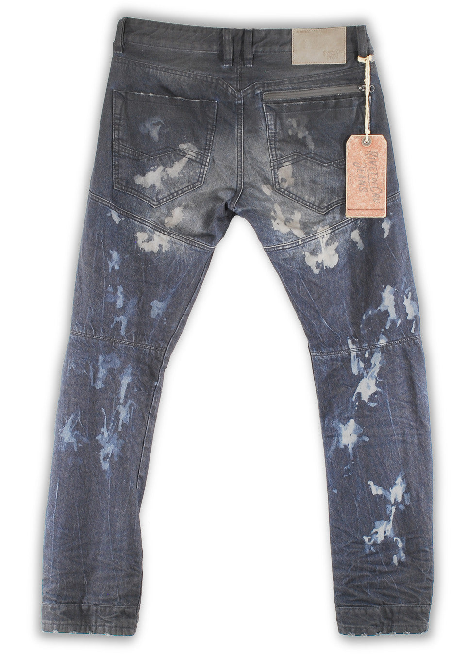 162-021F Raven Blue Wash Moto Fit Jean - Rivet De Cru Jeans - Premium Denim - Mens Fashion - Mens Clothing - Mens Jeans - Mens Denim - 2