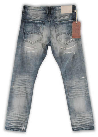 162-022M Stone Wash Blue Jeans - Rivet De Cru Jeans - Premium Denim - Mens Fashion - Mens Clothing - Mens Jeans - Mens Denim - 2