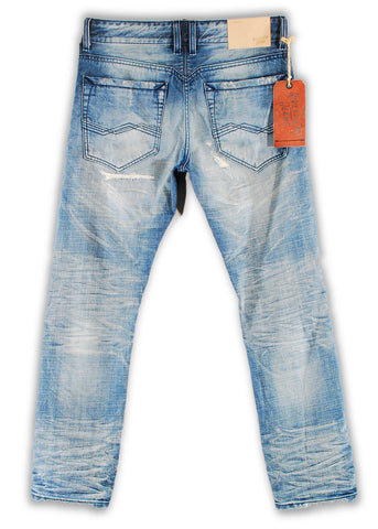 162-024M Cloud Dancer Wash Blue Jeans - Rivet De Cru Jeans - Premium Denim - Mens Fashion - Mens Clothing - Mens Jeans - Mens Denim - 2