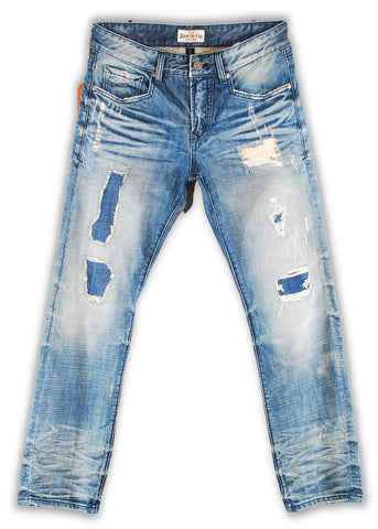162-024M Cloud Dancer Wash Blue Jeans - Rivet De Cru Jeans - Premium Denim - Mens Fashion - Mens Clothing - Mens Jeans - Mens Denim - 1