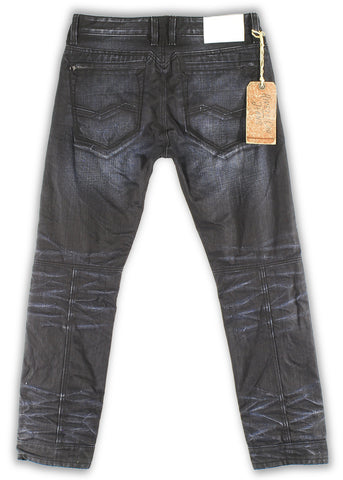 162-027W Black Iris Hardtail Moto Fit Jean - Rivet De Cru Jeans - Premium Denim - Mens Fashion - Mens Clothing - Mens Jeans - Mens Denim - 2