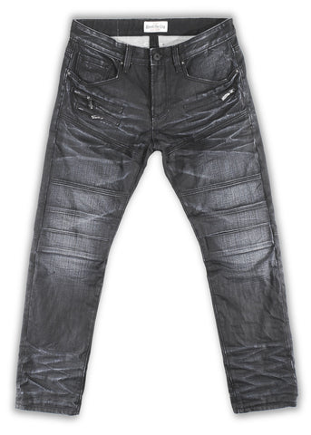 162-027W Black Iris Hardtail Moto Fit Jean - Rivet De Cru Jeans - Premium Denim - Mens Fashion - Mens Clothing - Mens Jeans - Mens Denim - 1