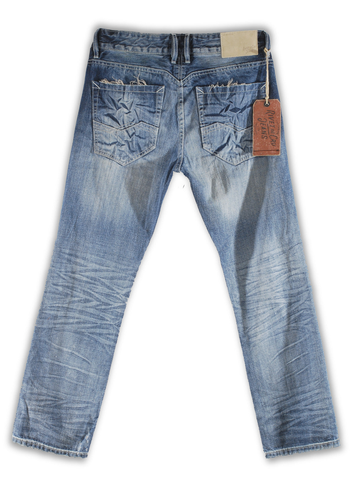 162-029M Sandblast Blue Jeans - Rivet De Cru Jeans - Premium Denim - Mens Fashion - Mens Clothing - Mens Jeans - Mens Denim - 2
