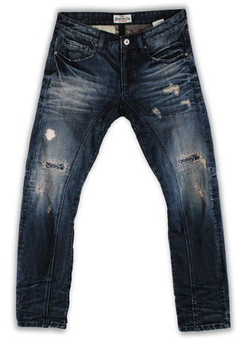 163-041F Frosted Almond Blue Jeans - Rivet De Cru Jeans - Premium Denim - Mens Fashion - Mens Clothing - Mens Jeans - Mens Denim - 1