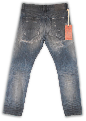 161-042M Vapor Blue Wash Jeans - Rivet De Cru Jeans - Premium Denim - Mens Fashion - Mens Clothing - Mens Jeans - Mens Denim - 2