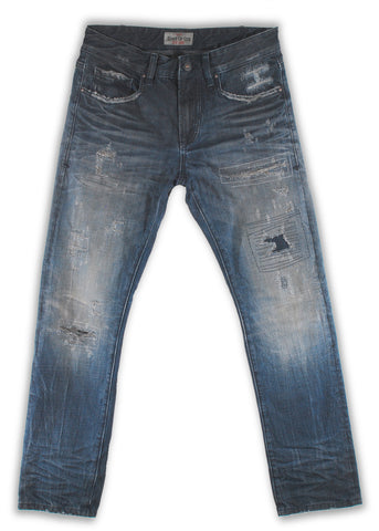 161-042M Vapor Blue Wash Jeans - Rivet De Cru Jeans - Premium Denim - Mens Fashion - Mens Clothing - Mens Jeans - Mens Denim - 1