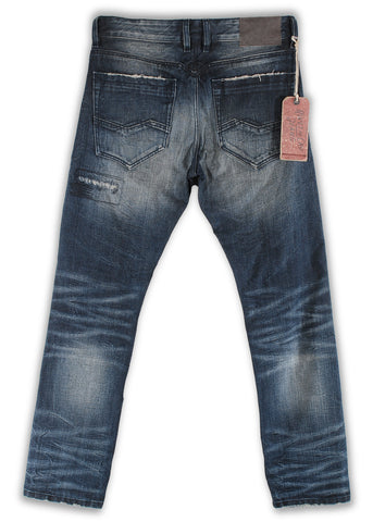 164-063M French Blue Wash Jeans - Rivet De Cru Jeans - Premium Denim - Mens Fashion - Mens Clothing - Mens Jeans - Mens Denim - 2