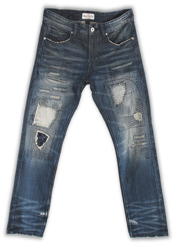 164-063S The French blue wash jeans - Rivet De Cru Jeans - Premium Denim - Mens Fashion - Mens Clothing - Mens Jeans - Mens Denim - 1
