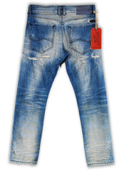 164-064M Spa Blue Wash Jeans - Rivet De Cru Jeans - Premium Denim - Mens Fashion - Mens Clothing - Mens Jeans - Mens Denim - 2