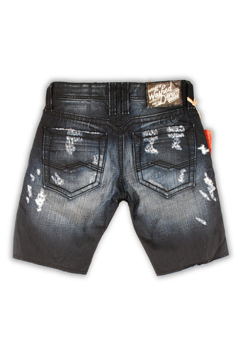 1TS-001 Blue Graphite Shorts - Rivet De Cru Jeans - Premium Denim