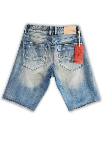 1TS-004MB Salmon Dream Shorts(Bigs) - Rivet De Cru Jeans - Premium Denim - 2