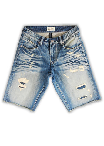 1TS-004MB Salmon Dream Shorts(Bigs) - Rivet De Cru Jeans - Premium Denim - 1