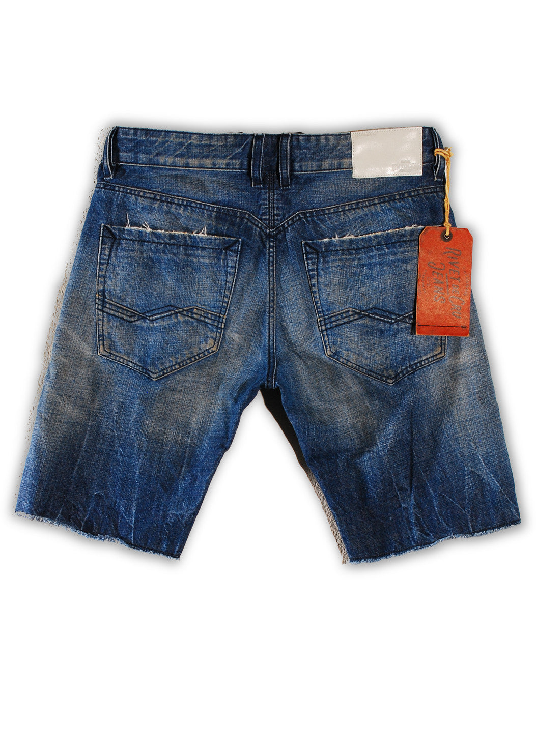 1TS-006 Crown Blue Shorts - Rivet De Cru Jeans - Premium Denim