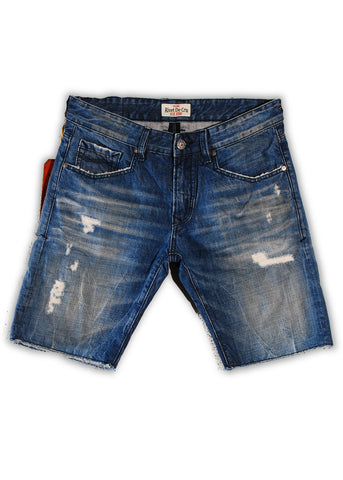 1TS-006MB Crown Blue Shorts(Bigs) - Rivet De Cru Jeans - Premium Denim - 1