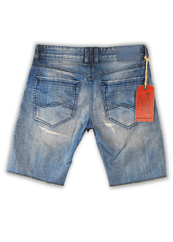 1TS-024 Polar Blue Shorts - Rivet De Cru Jeans - Premium Denim