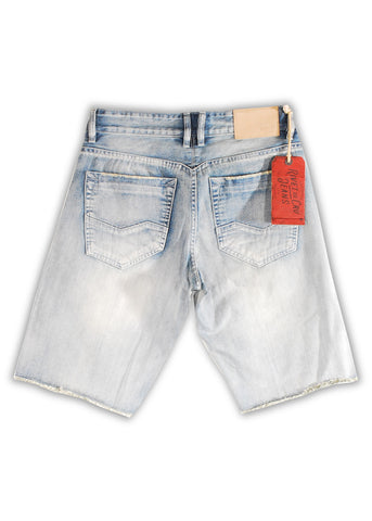 1TS-127 White Kiss Shorts - Rivet De Cru Jeans - Premium Denim