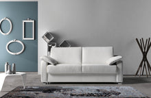 white italian leather sofa bed