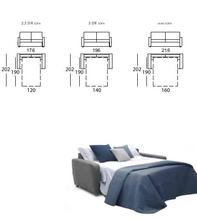 Dalila  high back sofa-bed