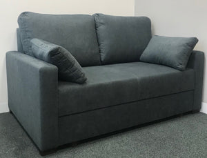 Blue fabric 2 seat sofa bed