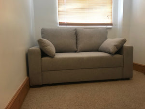 light coloured fabric 2 seat in loft space