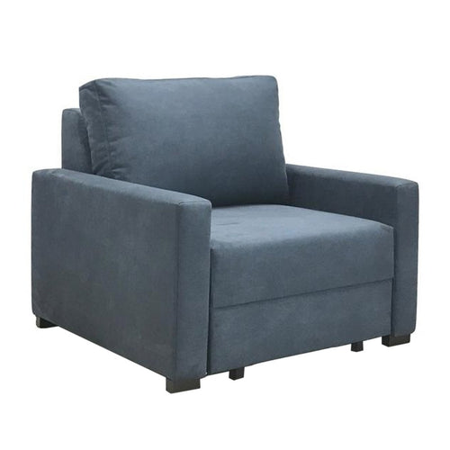 Chair-bed - blue fabric