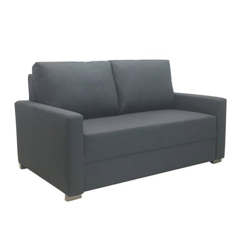 small grey sofa-bed in fabric