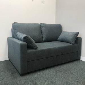 Compact - grey fabric small sofabed
