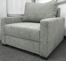 Compact - light grey chair bed