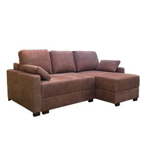 brown Corner Sofa Bed -Twin Storage Sofa-bed