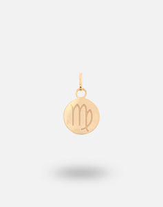 18kt Gold Zodiac Disc Charm - Virgo