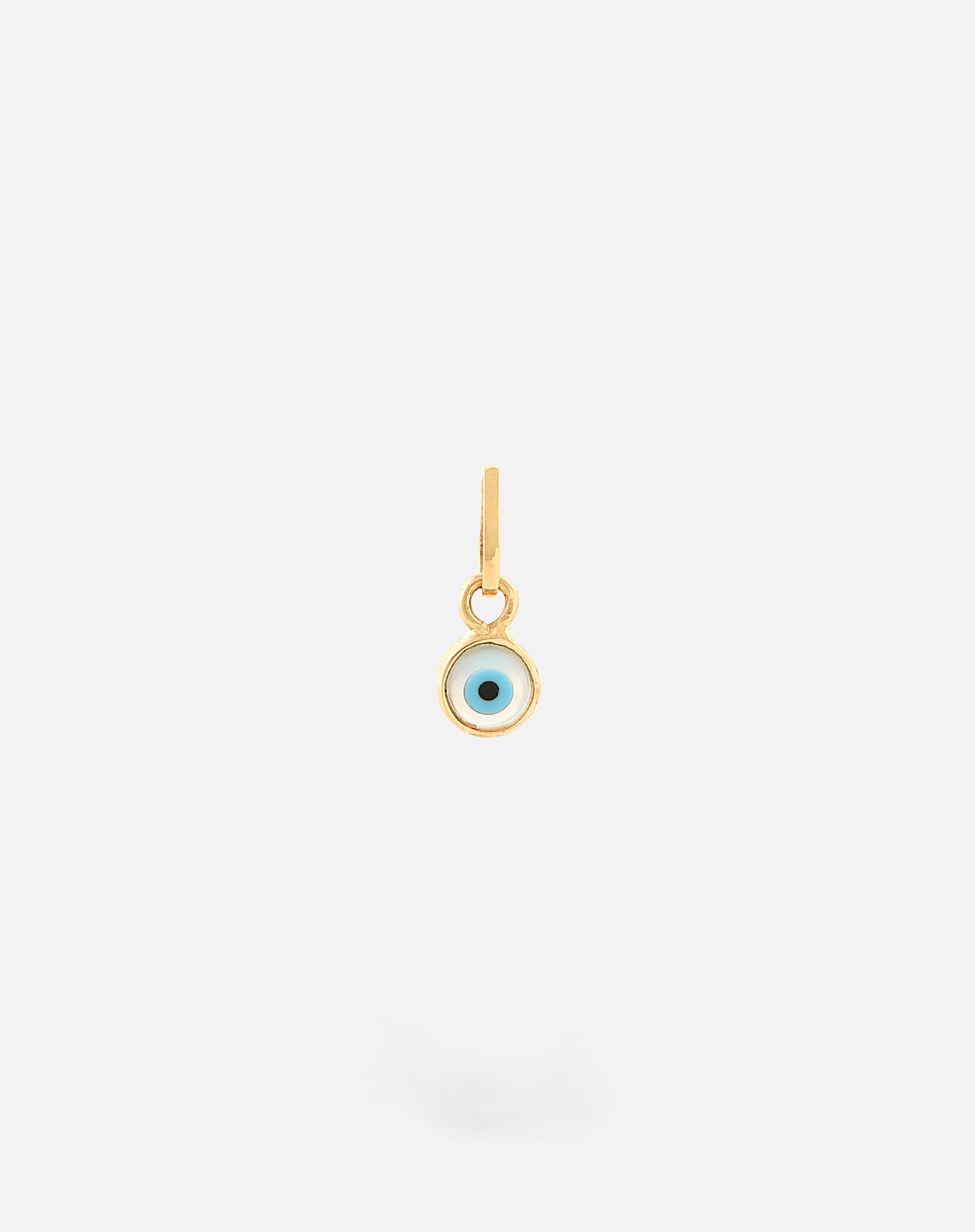 Gold Evil Eye Charm - Round Small