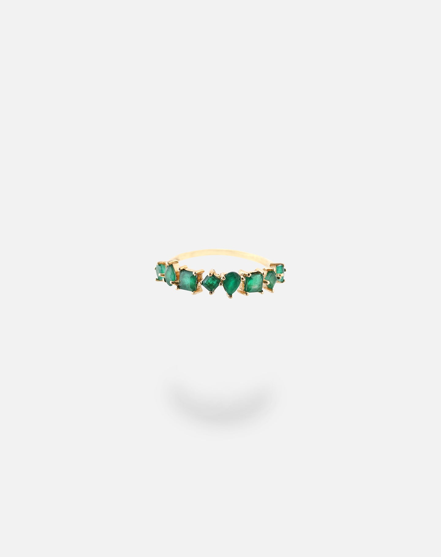 Gold Emerald Shape Ring