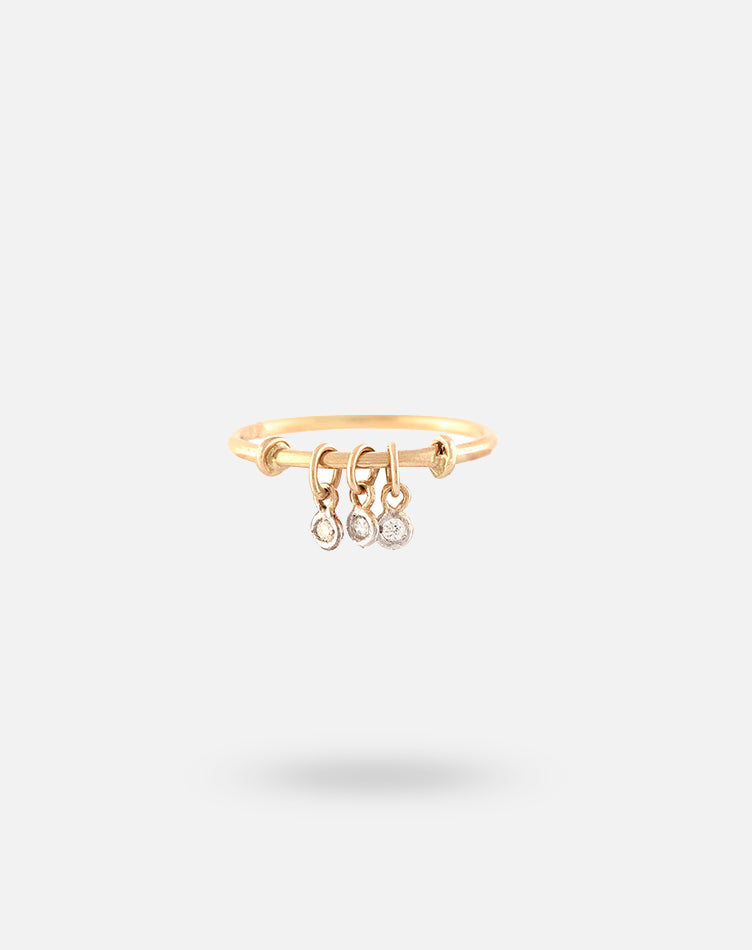 Rose Gold DOTM Dangling Diamond Ring