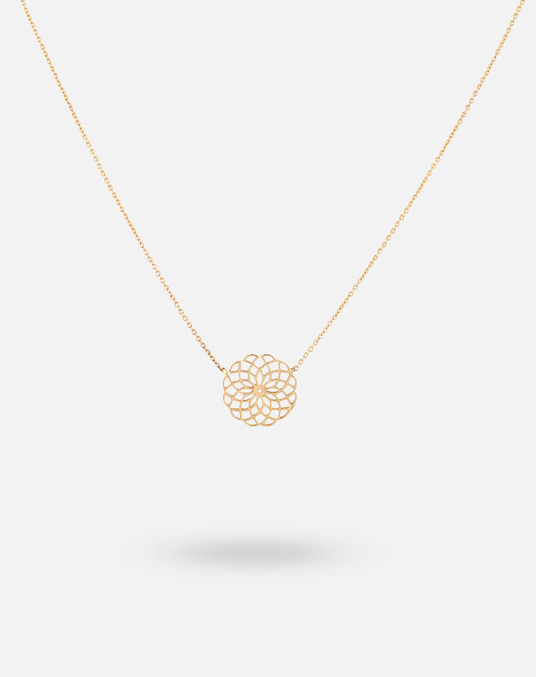 Rose Gold DOTM Kaleidoscope Necklace