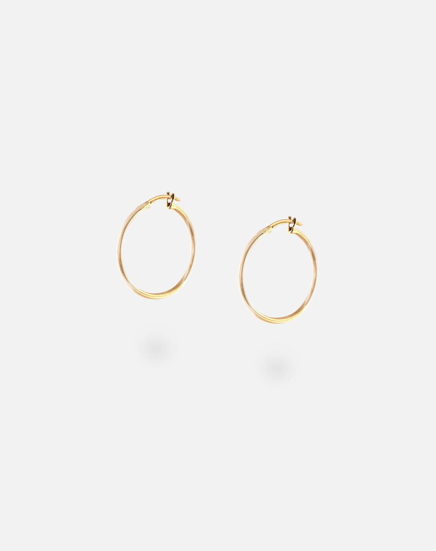 Classic Tube Hoops Gold